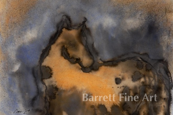 Spotted Horse 22 X 30 Mixed Media (c)2006 $3600.00 Jim Barrett copy